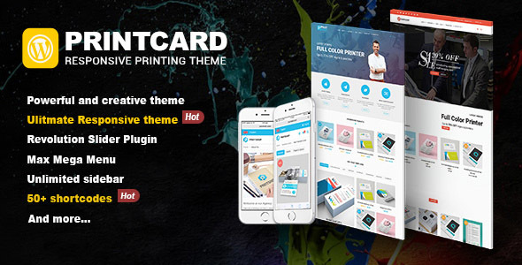 Printshop – WordPress Responsive Printing Theme (eCommerce)