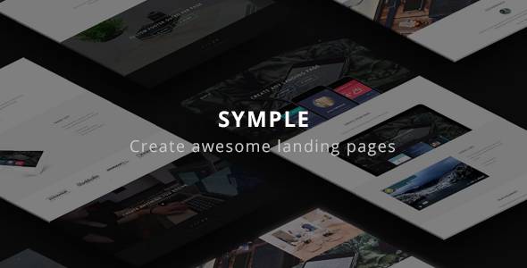 Symple – Clean & Minimal Landing Page Theme (Technology)