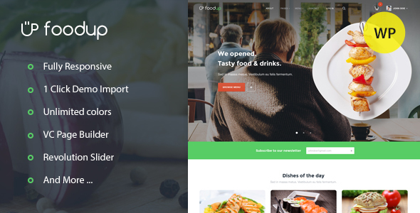 FoodUp — Food & Restaurant WordPress Theme (Entertainment)