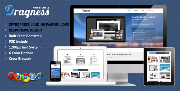 Dragness | WordPress Landing Page Theme (Technology)