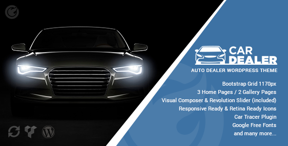 Car Dealer – Professional & Responsive WordPress Theme For Automotive (Retail)