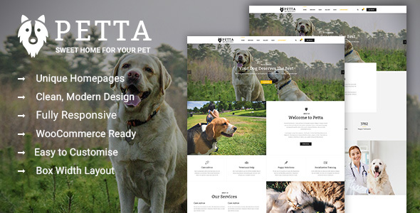 Petta – Premium Pet Care WordPress Theme (Retail)