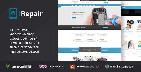 iRepair –  Repair WordPress  Theme  (Retail)
