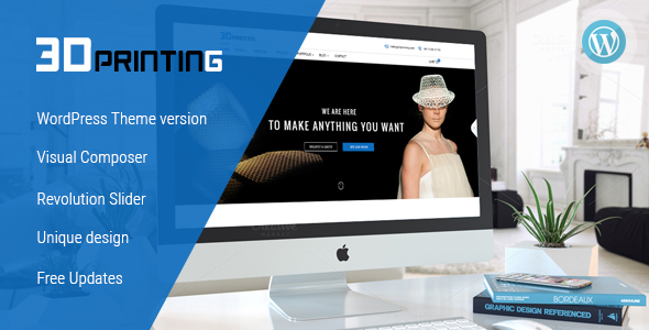 3D Printing – Responsive Elegant 3D Print & Scan Technology WordPress Theme (Technology)