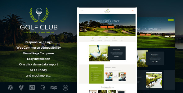 Golf Club – Sports & Events WordPress Theme (Entertainment)