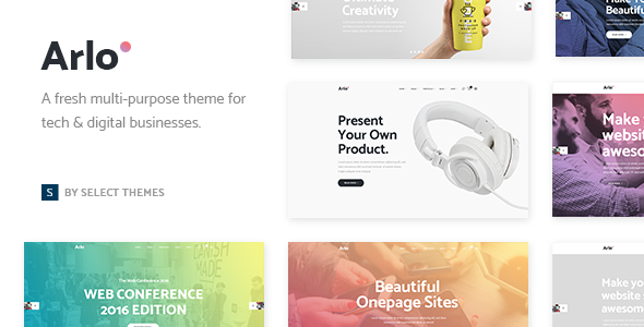 Arlo – A Fresh Theme for Tech & Digital Businesses (Technology)